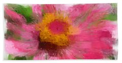 Abstract Flower Expressions Bath Towel