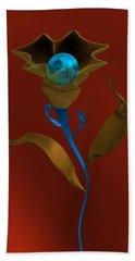 Hand Towel featuring the digital art Abstract Flower Growing. by Alberto RuiZ