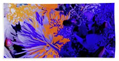 Abstract Flowers Of Light Series #1 Bath Towel