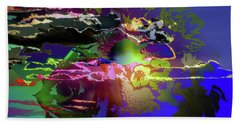 Abstract Flowers Of Light Series #11 Bath Towel
