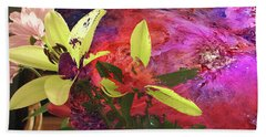 Abstract Flowers Of Light Series #16 Bath Towel