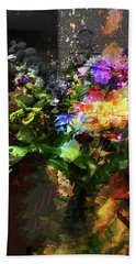Abstract Flowers Of Light Series #17 Bath Towel