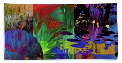 Abstract Flowers Of Light Series #19 Hand Towel