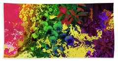 Abstract Flowers Of Light Series #2 Bath Towel
