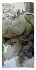 Abstract Flowers Of Light Series #3 Bath Towel