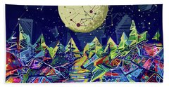 Abstract Forest Hand Towel by Bekim Art
