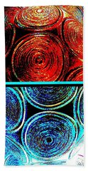 Hand Towel featuring the digital art Abstract Fusion 275 by Will Borden