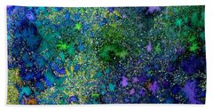 Abstract Garden In Bloom Bath Towel by Desiree Paquette