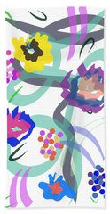Abstract Garden Nr 4 Bath Towel