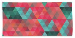 Abstract Geometric Colorful Endless Triangles Abstract Art Bath Towel