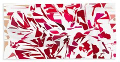Abstract Geranium Bath Towel