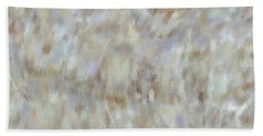 Hand Towel featuring the mixed media Abstract Gold Cream Beige 6 by Clare Bambers