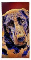 Abstract Golden Labrador Retriever Painting Hand Towel