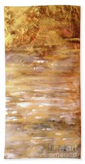 Abstract Golden Sunrise Beach  Hand Towel