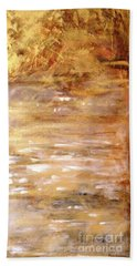Abstract Golden Sunrise Beach  Hand Towel