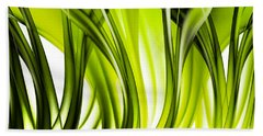 Abstract Green Grass Look Bath Towel