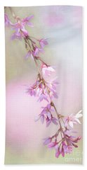 Abstract Higan Chery Blossom Branch Bath Towel