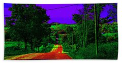 Abstract Highway Bath Towel