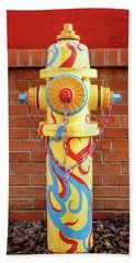 Abstract Hydrant Hand Towel by James Eddy