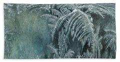 Abstract Ice Crystals Bath Towel