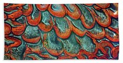 Abstract In Copper And Blue No. 7-1 Hand Towel