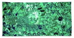 Abstract In Green No. 56-3 Hand Towel