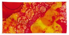 Hand Towel featuring the painting Abstract Intensity by Nikki Marie Smith