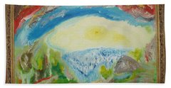 Abstract Landscape Hand Towel