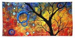 Abstract Landscape Tree Fine Art Prints Renewed Energy By Megan Duncanson Hand Towel