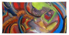 Abstract Life Bath Towel