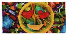 Abstract Love Bath Towel by Gerhardt Isringhaus