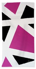 Abstract M1015bp Hand Towel