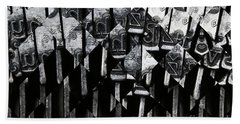 Abstract Matrix Bath Towel by Michal Boubin