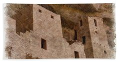 Bath Towel featuring the photograph Abstract Mesa Verde by Debby Pueschel