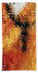 Bath Towel featuring the painting Abstract Modern Art - Pieces 8 - Sharon Cummings by Sharon Cummings