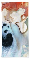 Bath Towel featuring the painting Abstract Modern Art - The Vessel - Sharon Cummings by Sharon Cummings