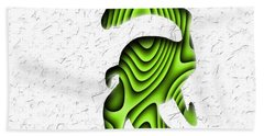 Abstract Monster Cut-out Series - Green Stroll Bath Towel