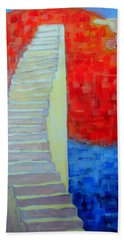Hand Towel featuring the painting Abstract Moon by Ana Maria Edulescu