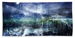 Abstract Moonlit Seascape Painting 36a Hand Towel