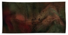 Hand Towel featuring the painting Abstract Nude 4 by Jim Vance