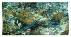 Abstract Of The Underwater World. Production By Nature Bath Towel by Jenny Rainbow