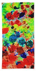 Abstract Oil  Photo Bath Towel by Tom Janca