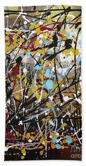 Abstract Original Art Contemporary Painting Energized I By Megan Duncanson Hand Towel
