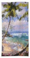 Abstract Palm Beach Path Hand Towel by Anthony Fishburne