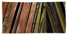 Abstract Palm Frond Bath Towel