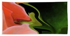 Abstract Pink Flowers Bath Towel