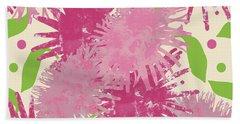 Abstract Pink Puffs Bath Towel