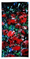 Abstract Poppies Hand Towel