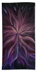 Abstract Purple Flower Hand Towel