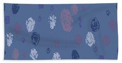 Abstract Rain On Blue Hand Towel